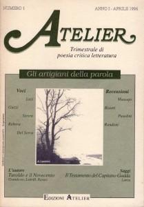 Copertina della rivista Atelier n. 1