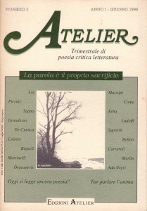 Copertina della rivista Atelier, n. 2