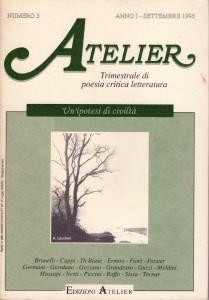Copertina della rivista Atelier, n. 3