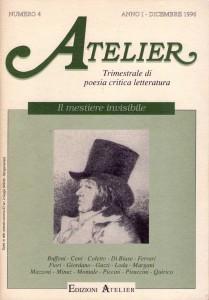 Copertina della rivista Atelier, n. 4