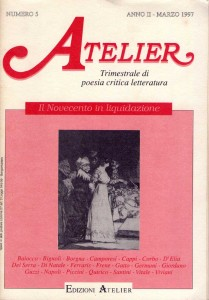 Copertina della rivista Atelier, n. 5