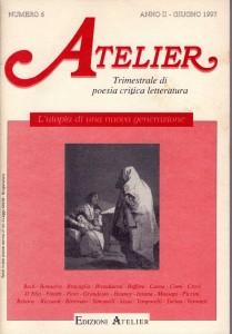 Copertina della rivista Atelier, n. 6
