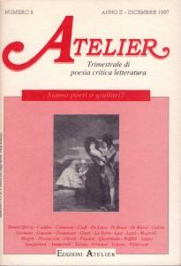 Copertina della rivista Atelier, n. 8