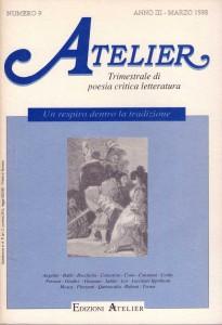 Copertina della rivista Atelier, n. 9