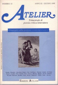 Copertina della rivista Atelier, n. 10