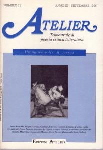 Copertina della rivista Atelier, n. 11