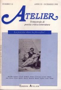 Copertina della rivista Atelier, n. 12