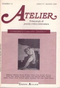 Copertina della rivista Atelier, n. 13