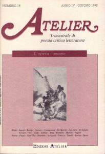 Copertina della rivista Atelier, n. 14