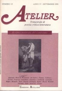 Copertina della rivista Atelier, n. 15