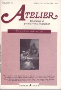 Copertina della rivista Atelier, n. 16
