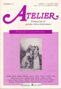 Copertina della rivista Atelier, n. 17