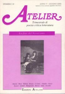 Copertina della rivista Atelier, n. 18