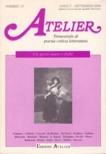 Copertina della rivista Atelier, n. 19