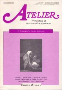 Copertina della rivista Atelier, n. 20