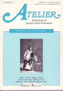 Copertina della rivista Atelier, n. 21