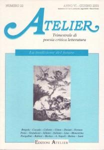 Copertina della rivista Atelier, n. 22