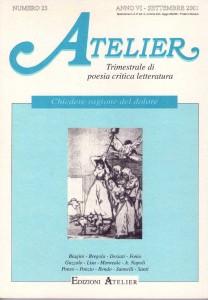 Copertina della rivista Atelier, n. 23