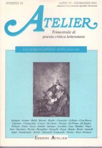 Coperta della rivista Atelier, n. 24