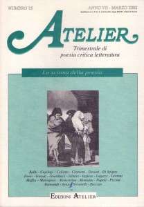 Copertina della rivista Atelier, n. 25