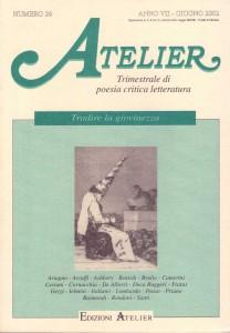 Copertina della rivista Atelier, n. 26