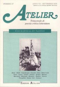 Copertina della rivista Atelier, n. 27