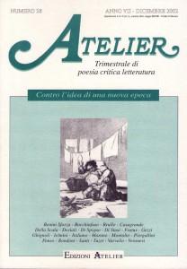 Copertina della rivista Atelier, n. 28