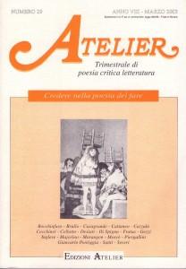 Copertina della rivista Atelier, n. 29
