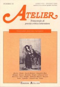 Copertina della rivista Atelier, n. 30