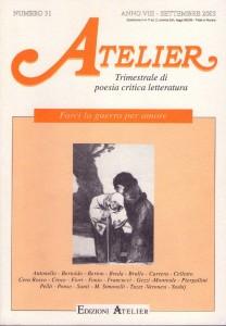 Copertina della rivista Atelier, n. 31