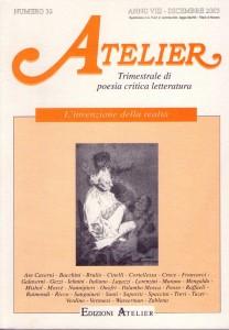 Copertina della rivista Atelier, n. 32