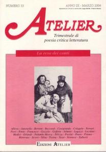 Copertina della rivista Atelier, n. 33