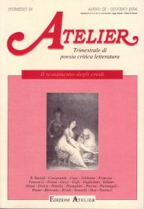 Copertina della rivista Atelier, n. 34