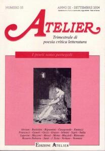 Copertina della rivista Atelier, n. 35