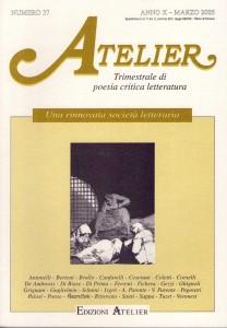 Copertina della rivista Atelier, n. 37