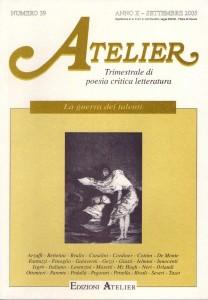 Copertina della rivista Atelier, n. 39
