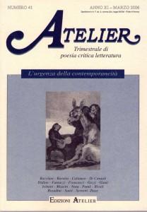 Copertina della rivista Atelier, n. 41