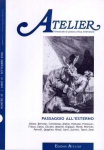 Copertina della rivista Atelier, n. 43
