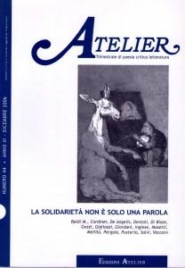 Copertina della rivista Atelier, n. 44