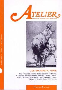 Copertina della rivista Atelier, n. 45