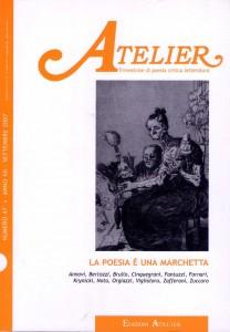 Copertina della rivista Atelier, n. 47