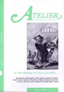Copertina della rivista Atelier, n. 52