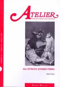 Copertina della rivista Atelier, n. 53