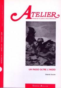 Copertina della rivista Atelier, n. 54
