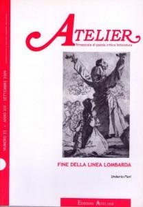 Copertina della rivista Atelier, n. 55