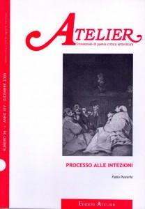 Copertina della rivista Atelier, n. 56