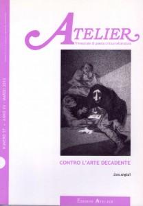 Copertina della rivista Atelier, n. 57