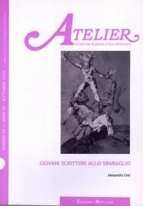 Copertina della rivista Atelier, n. 59