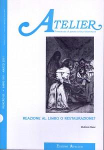Copertina della rivista Atelier, n. 61