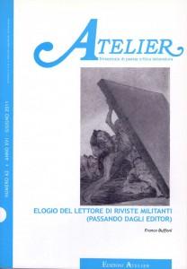 Copertina della rivista Atelier, n. 62